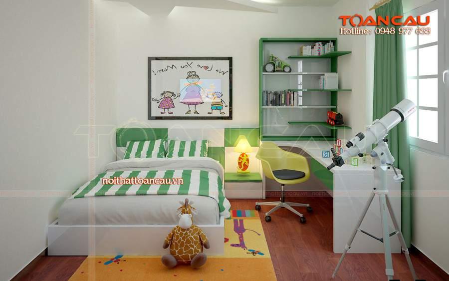Giường ngủ trẻ em với giá rẻ, bảo hành 3 năm.