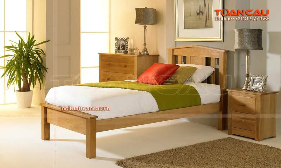 mẫu giường gỗ hiện đại