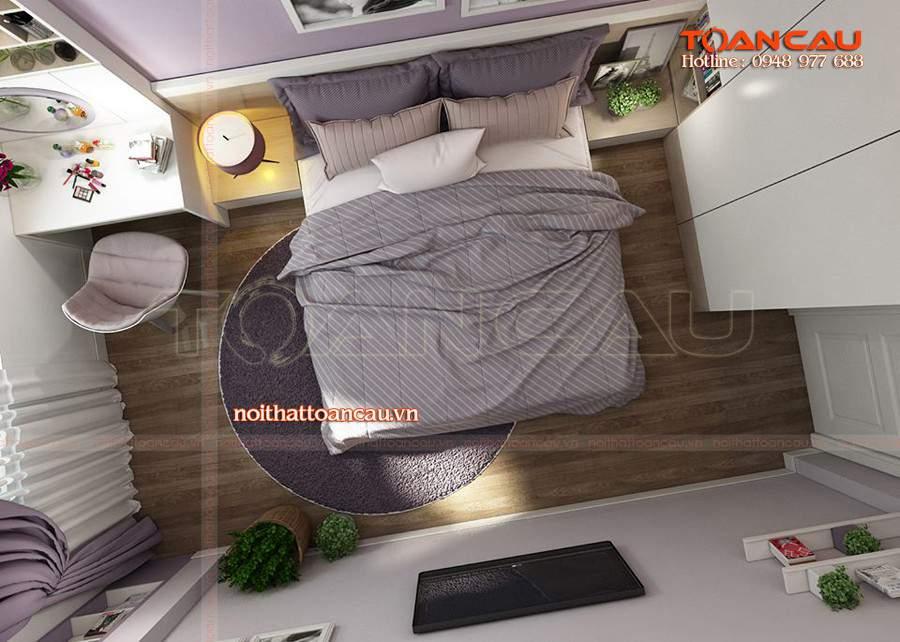 Thiết kế phòng ngủ nhỏ đơn giản giúp tiết kiệm diện tích