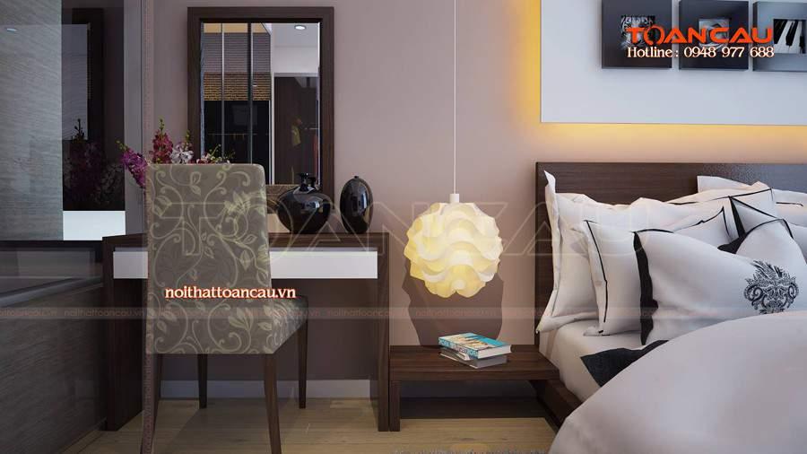 Thiết kế nội thất phòng ngủ gỗ tự nhiên đẹp