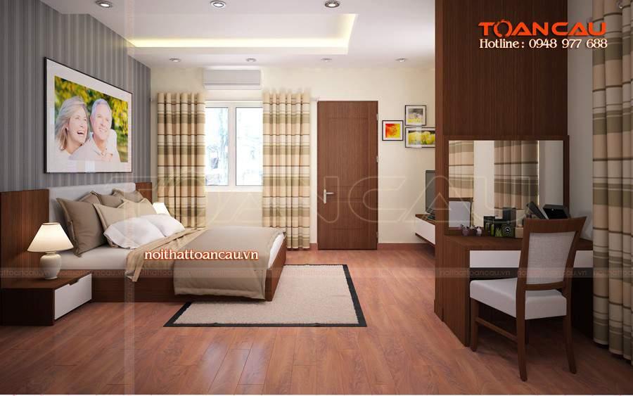 Giường ngủ gỗ, kệ Tivi gỗ tự nhiên tốt nhất được các gia đình lựa chọn nhiều