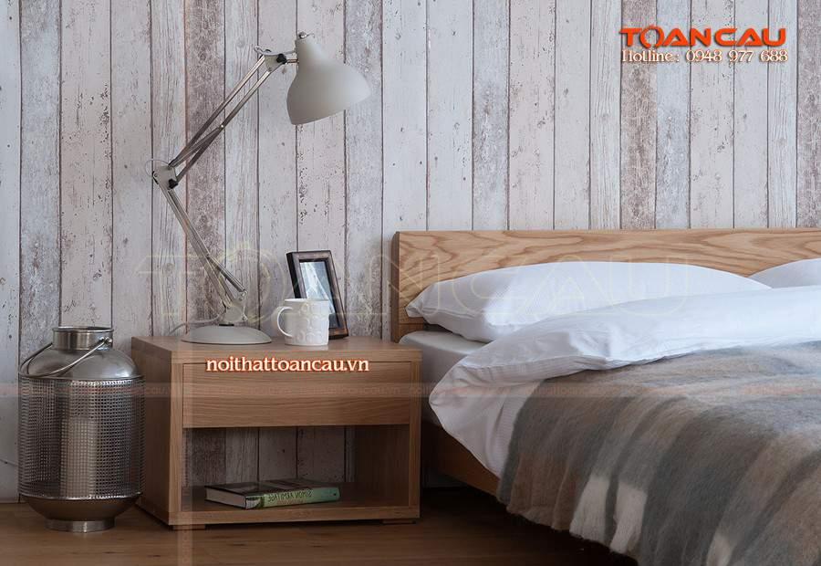 Mẫu giường ngủ thấp kiểu dáng thấp tiện nghi