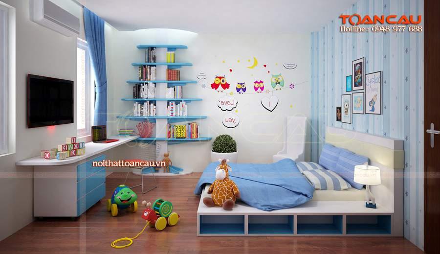 Giường trẻ em, kệ Tivi đẹp cho bé được các gia đình lựa chọn nhiều nhất