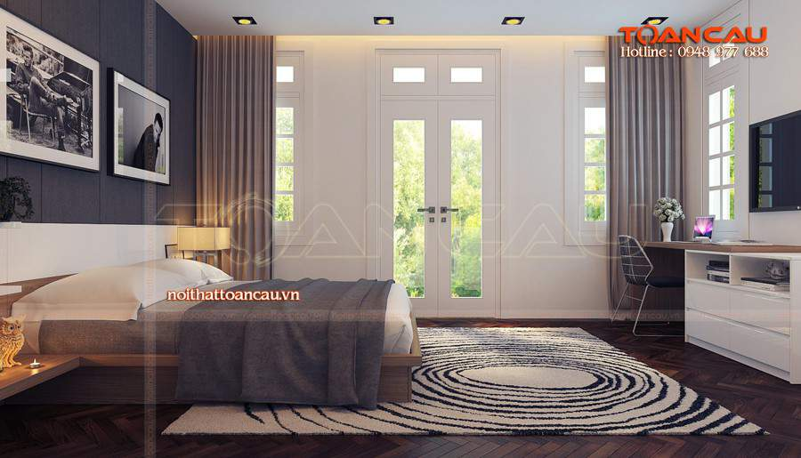 Kê giường ngủ hợp phong thủy đơn giản và đẹp