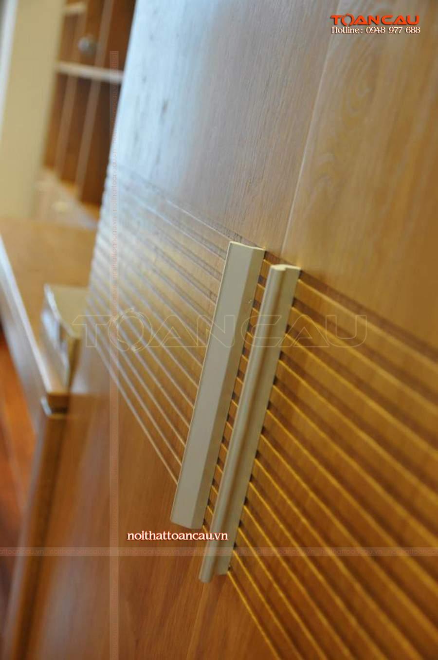 Nội thất phòng ngủ thiết kế bằng gỗ Sồi chắc chắn, bảo hành lâu dài khi đến với nội thất Toàn Cầu