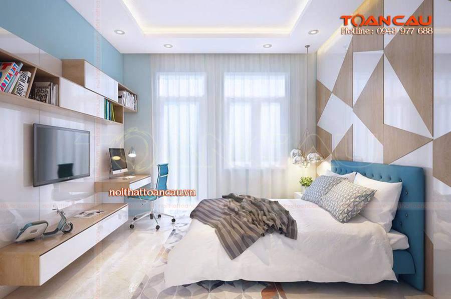 Thiết kế giường ngủ đẹp tại Nội thất Toàn Cầu, đảm bảo chất lượng tốt nhất khi sử dụng.