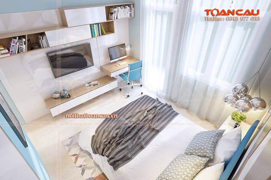 Thiết kế giường ngủ đẹp tại Nội thất Toàn Cầu chắc chắn sẽ làm khách hàng hài lòng nhất.