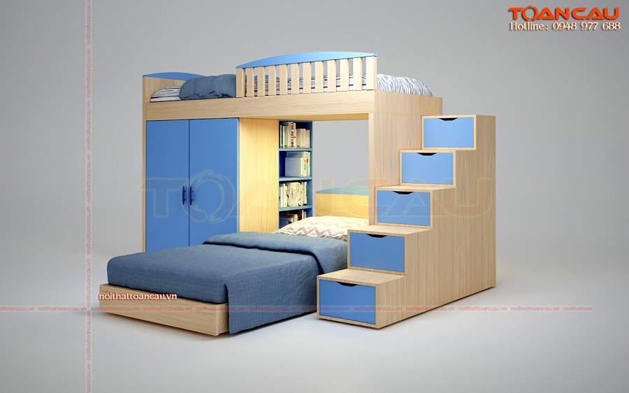 Giường tầng đa năng cho bé trai – TC1116B