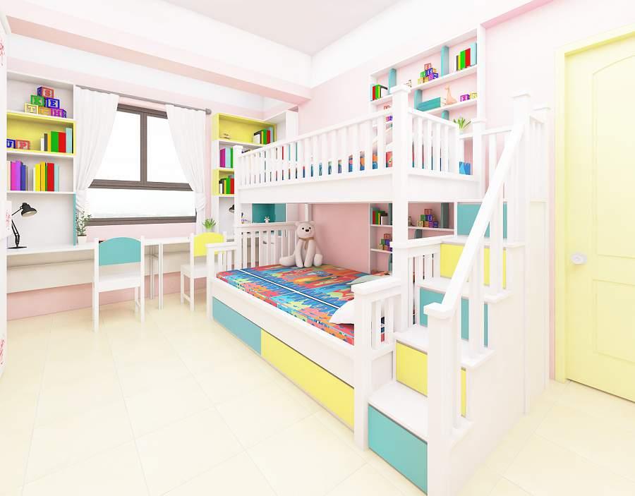 Giường tầng đa năng kết hợp bàn học phù hợp với trẻ
