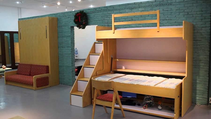 giường tầng kết hợp bàn làm việc tiện dụng