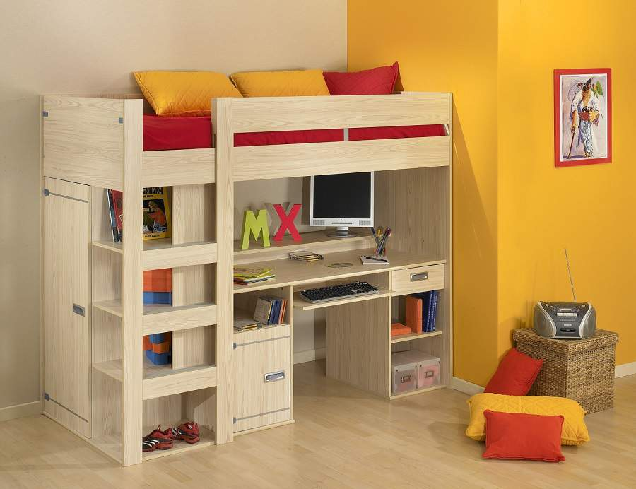giường tầng kết hợp bàn học cho bé yêu
