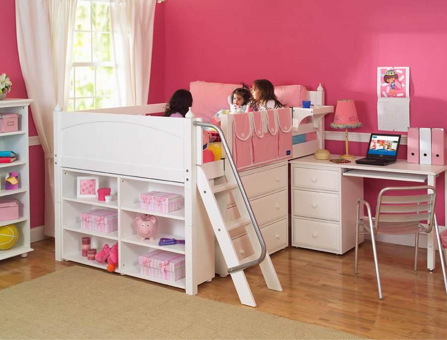 Phòng của bé không thể thiếu giường tầng đa năng kết hợp bàn học đẹp
