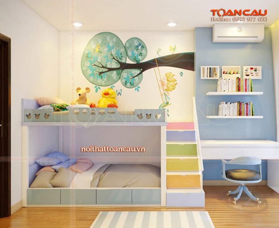 giường kết hợp bàn học và tủ đồ tiện ích