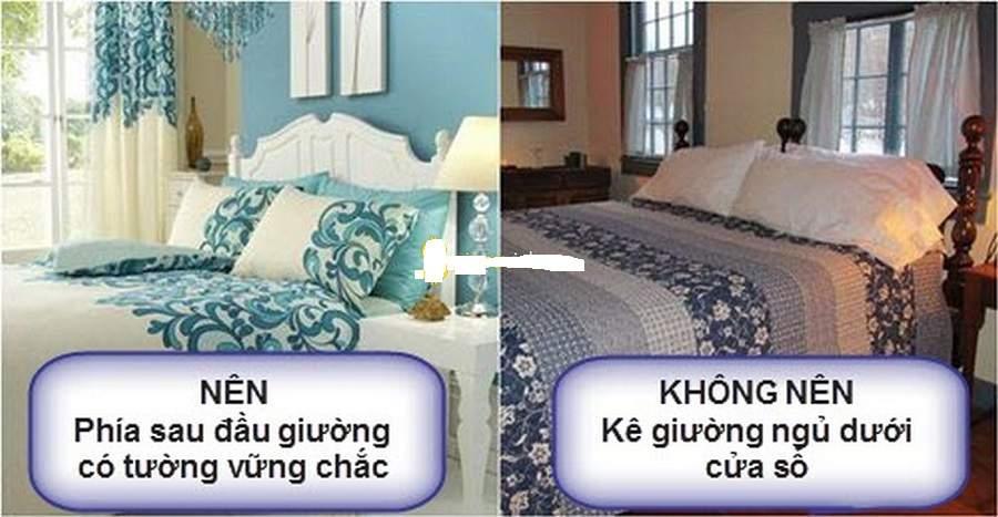 Hóa giải đầu giường kê sát cửa sổ