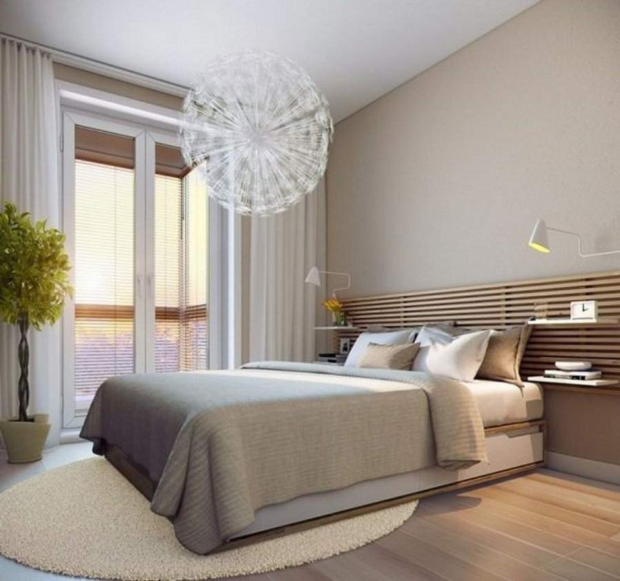 cách hóa giải giường ngủ đối diện cửa ra vào