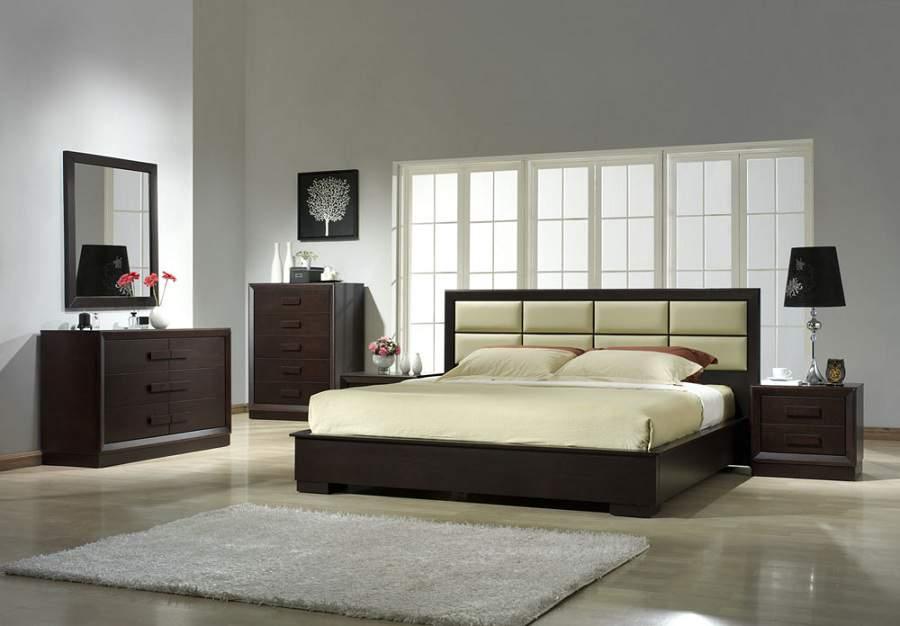 đặt giường ngủ đúng phong thủy không nên đặt đối diện gương