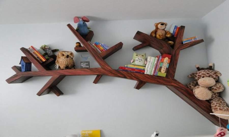 Kệ sách treo tường, kệ đựng sách giá rẻ bằng gỗ tự nhiên