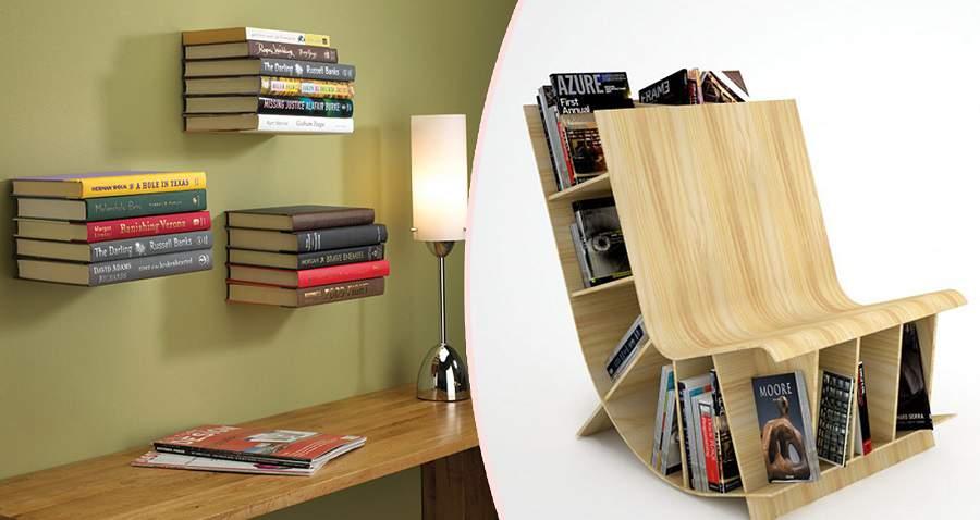 kệ sách treo tường bằng gỗ