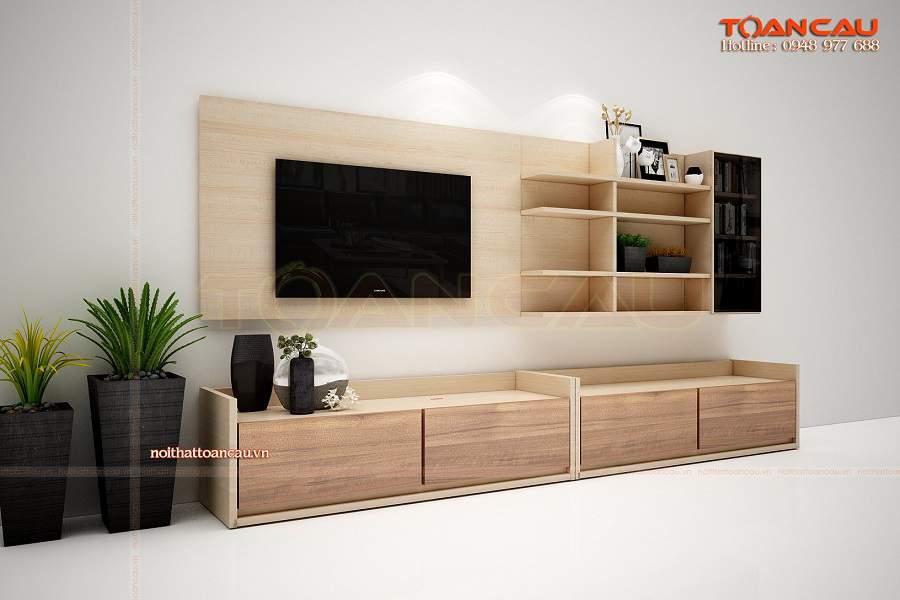 Kệ tivi gỗ công nghiệp giá rẻ - TC351 đáp ứng mọi nhu cầu sử dụng