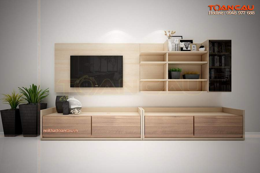 Kệ tivi gỗ công nghiệp giá rẻ phù hợp túi tiền mọi nhà