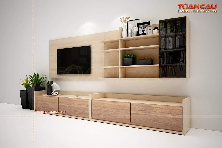 Kệ tivi gỗ công nghiệp giá rẻ tiện nghi, hiện đại