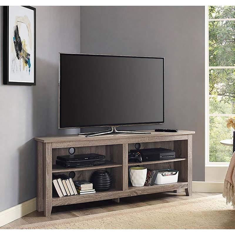 Kệ tivi góc bằng gỗ - TC16143