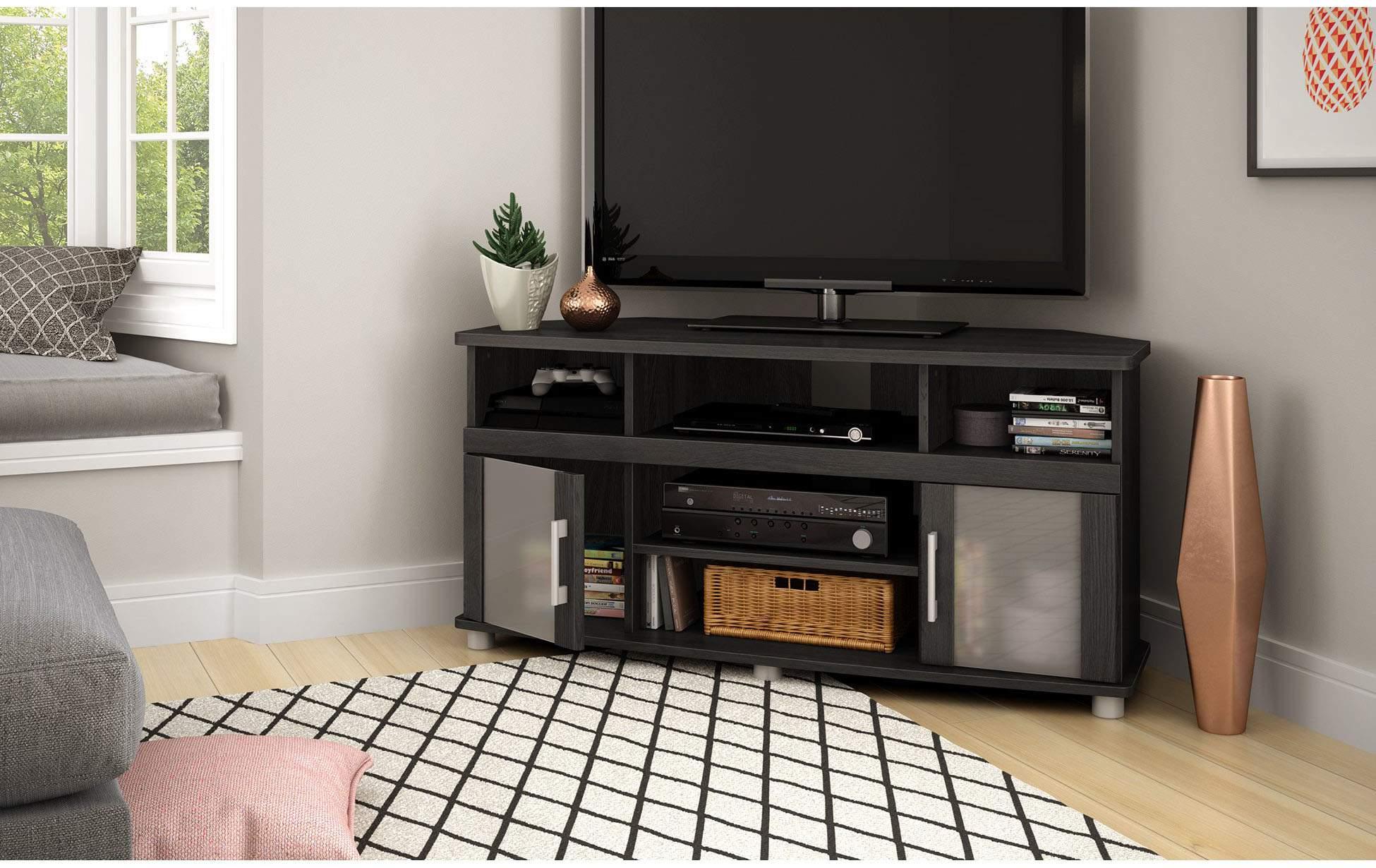 Kệ tivi góc bằng gỗ - TC16144