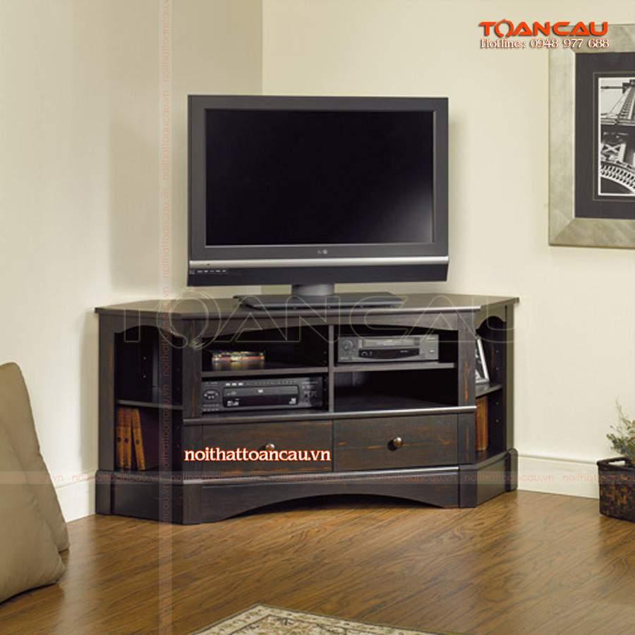 Mẫu kệ tivi góc bằng gỗ - TC30229