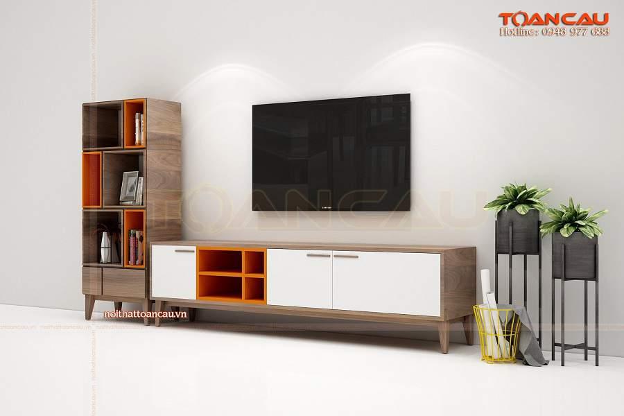 Kệ tivi phòng khách chung cư nhỏ - TC360 hiện đại