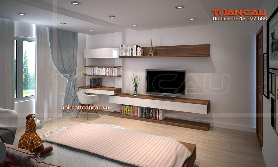 Kệ tivi treo tường phòng khách tphcm tiện lợi