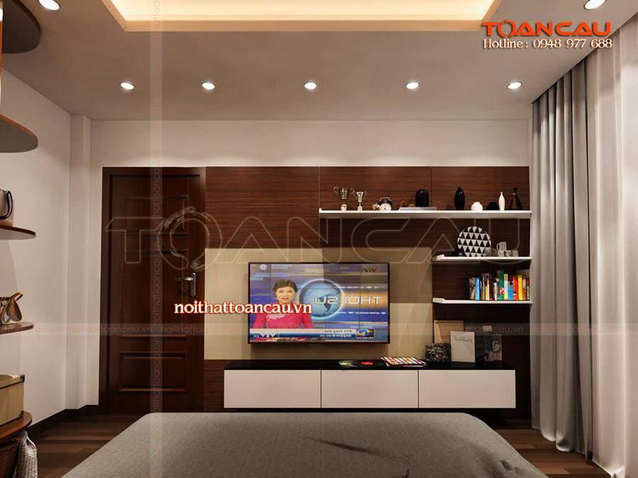 Mẫu kệ Tivi đẹp cho phòng ngủ gia đình, chất liệu làm bằng gỗ tự nhiên tốt nhất.