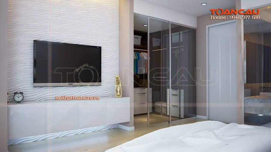 Mẫu kệ Tivi đẹp cho phòng ngủ gia đình phân phối với giá rẻ, chất lượng đảm bảo tại Công ty nội thất Toàn Cầu