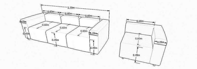 Kích thước chuẩn ghế sofa cho nhà xinh