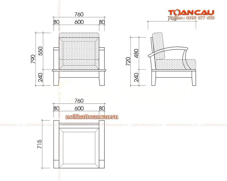 Kích thước tiêu chuẩn của bàn ghế phòng khách cho mọi gia chủ