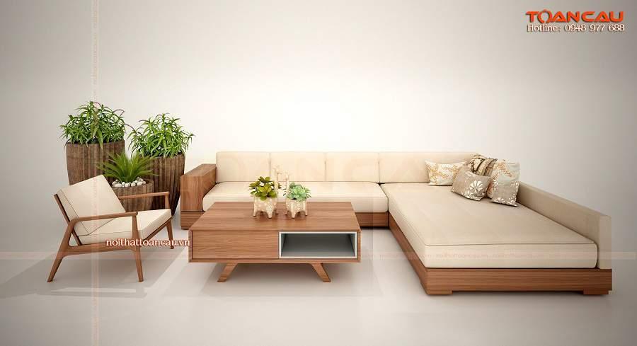 Mẫu sofa giường gỗ đẹp giá rẻ dành cho phòng khách nhỏ