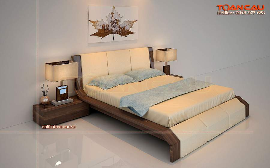 Giường ngủ gỗ đẹp giá rẻ tại hải dương hiện đại