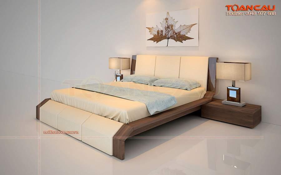 Giường gỗ đẹp giá rẻ tại Bình Dương đẹp tiện ích