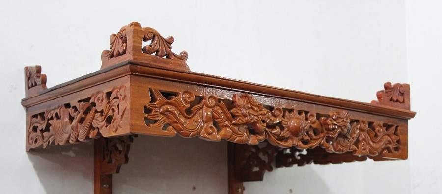 Mẫu bàn thờ treo tường cho nhà chung cư