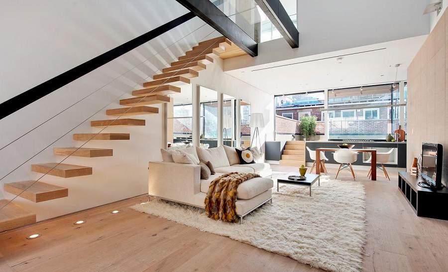 Mẫu thiết kế cầu thang đẹp hiện đại cho nhà ống
