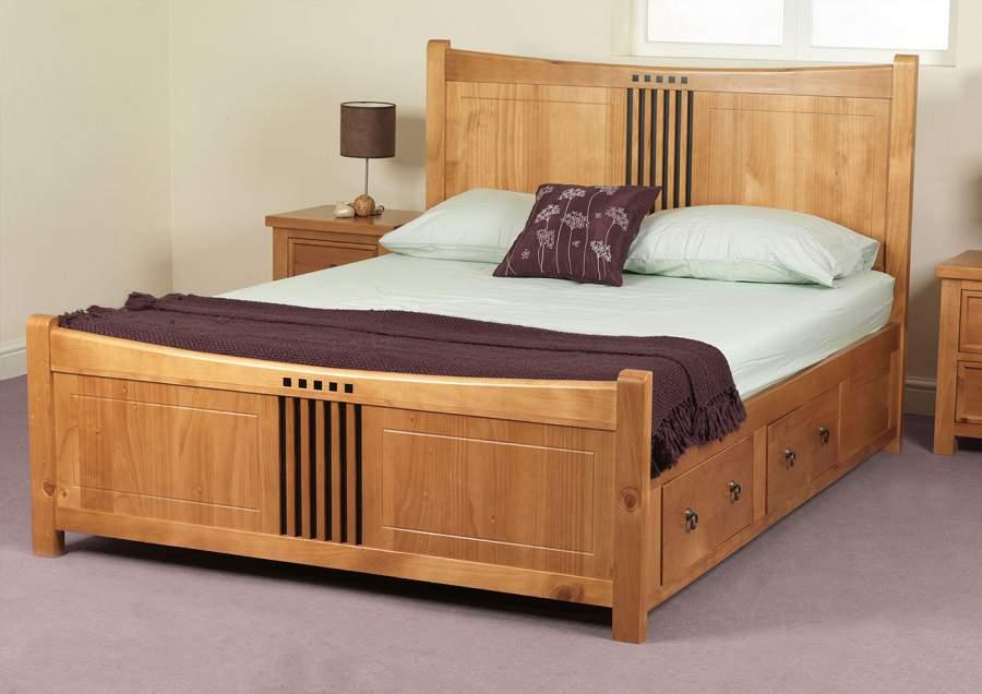 Giường ngủ có ngăn chứa đồ hiện đại