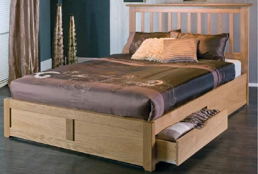 Mẫu giường có hộc tủ hiện đại