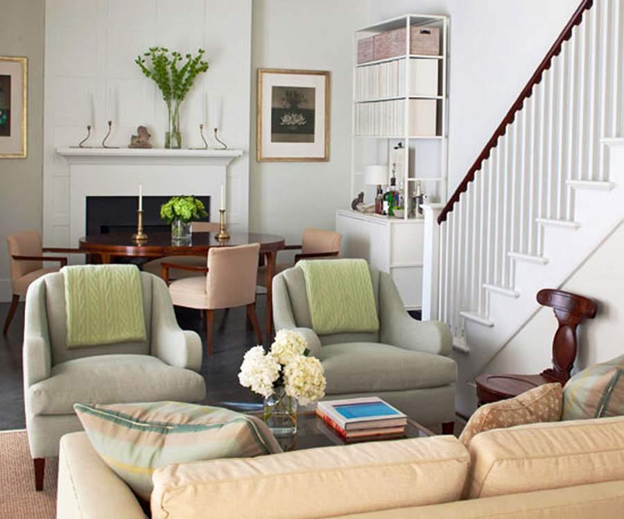 Thiết kế phòng khách với gam màu nhã nhặn