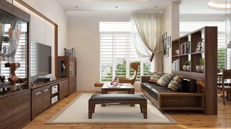 nội thất biệt thự bằng gỗ óc chó