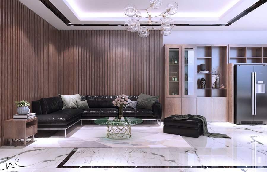 Mẫu thiết kế phòng khách nhà phố đẹp và độc đáo