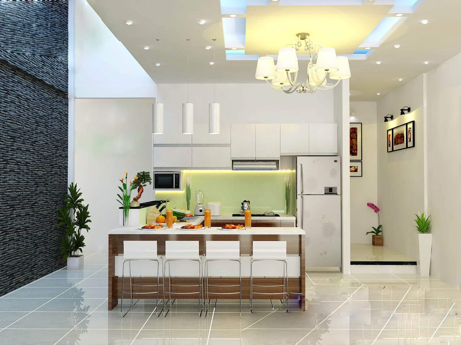 Phòng bếp là nơi gắn kết các thành viên trong gia đình