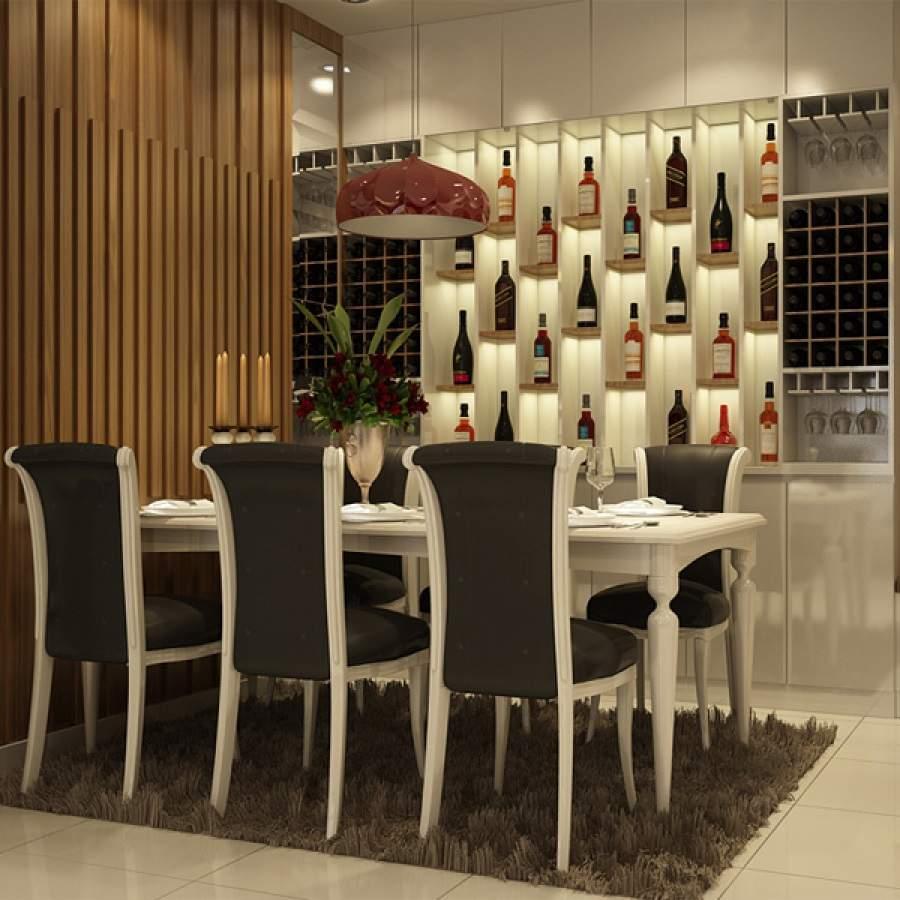 Mẫu tủ rượu âm tường phòng bếp cho nhà đẹp