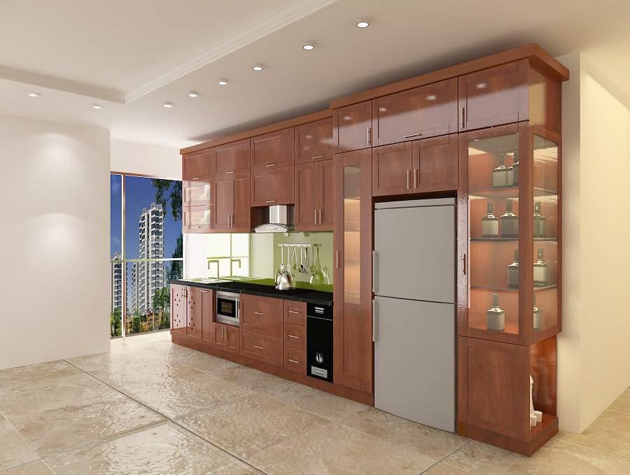 Những mẫu tủ đẹp cho bếp tiện ích