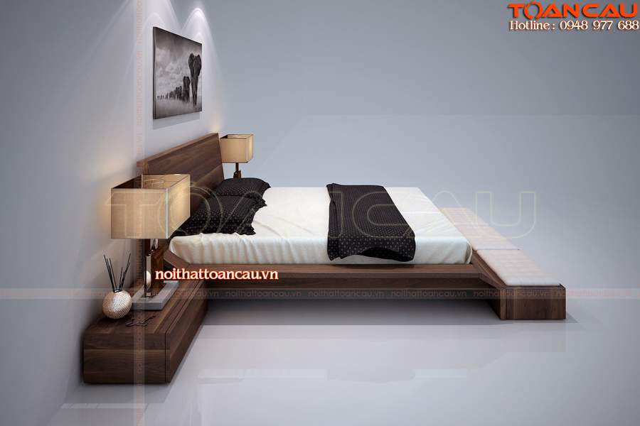Giường ngủ gỗ tự nhiên hà nội giá tốt