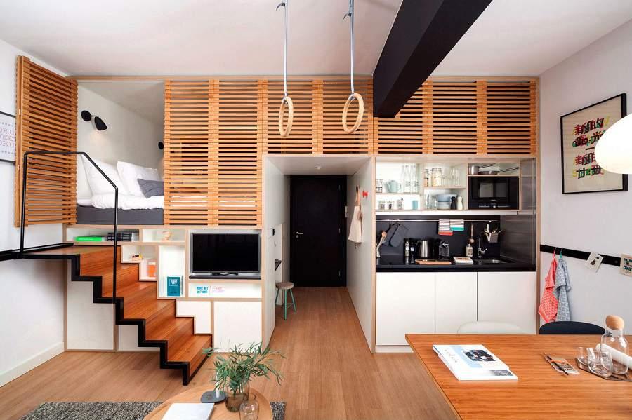 Nhà 20m2 sống tiện nghi như khách sạn tiện ích