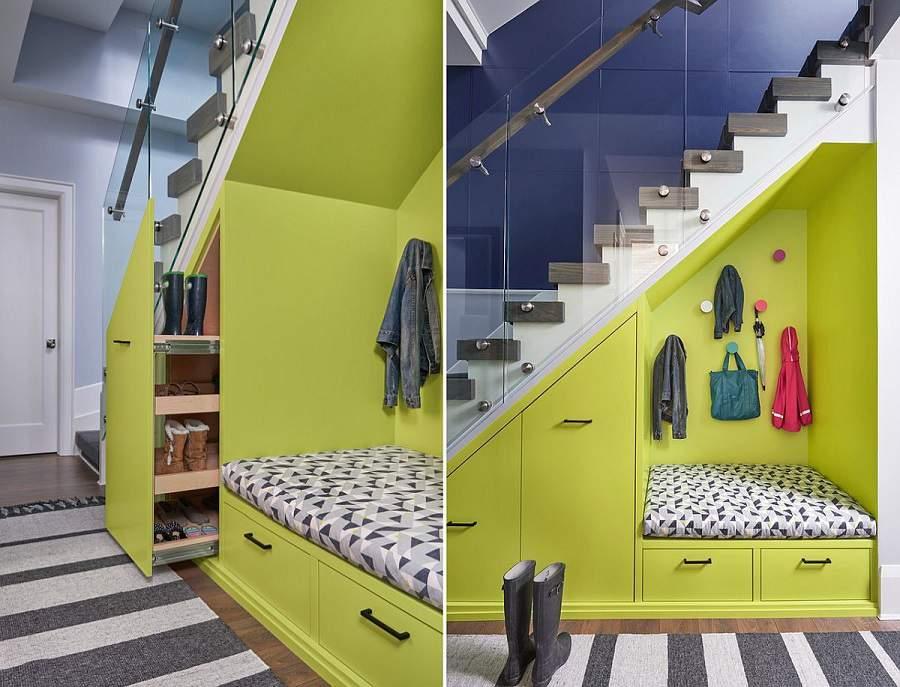Những mẫu tủ dưới gầm cầu thang là tủ đựng quần áo